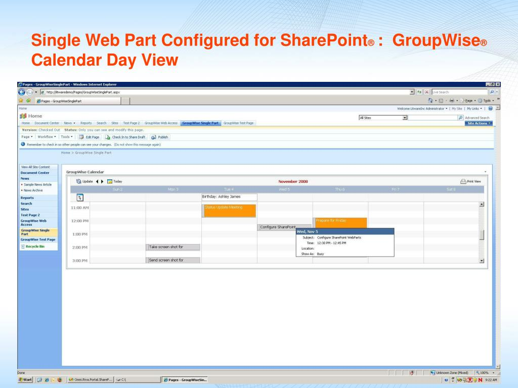 Single Web Part Configured for SharePoint