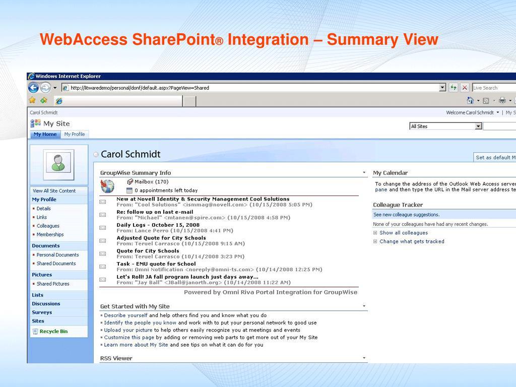 WebAccess SharePoint