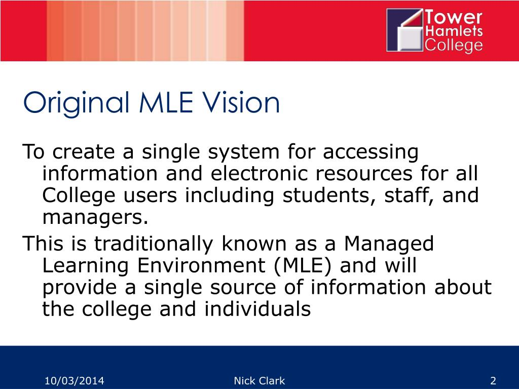 Original MLE Vision