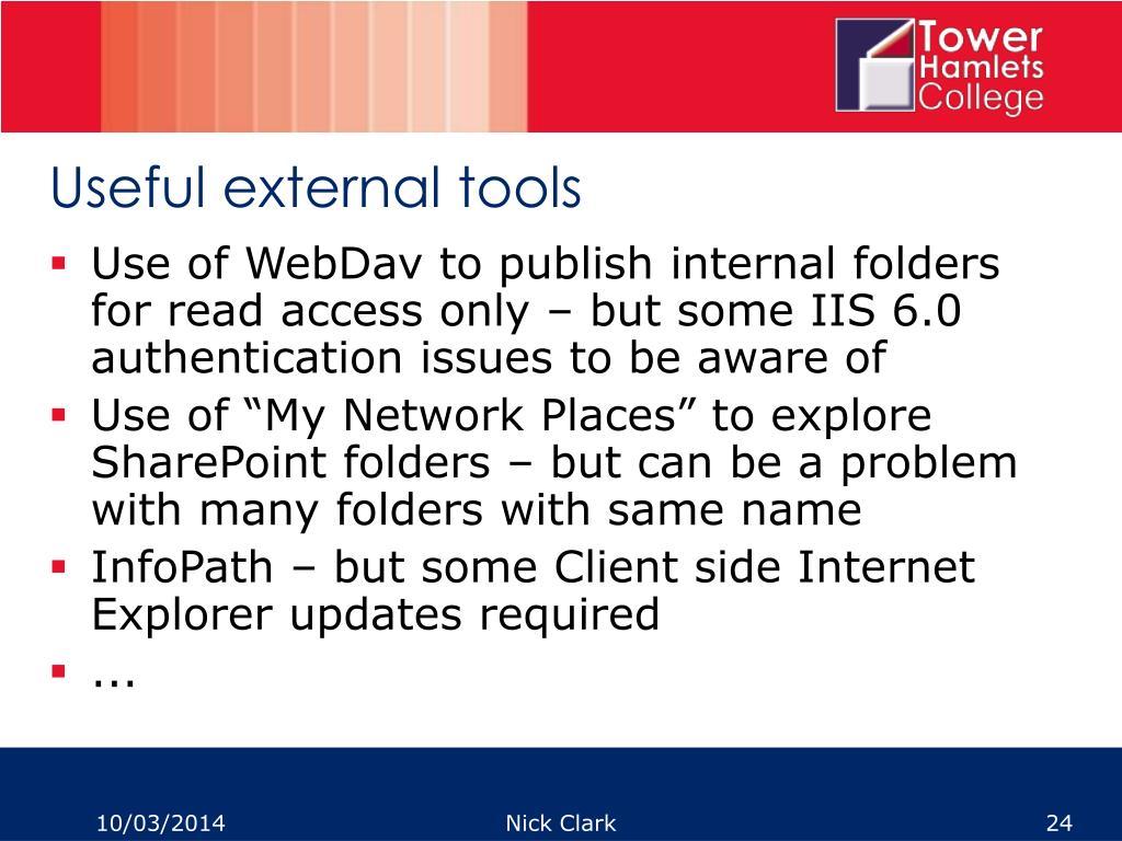 Useful external tools