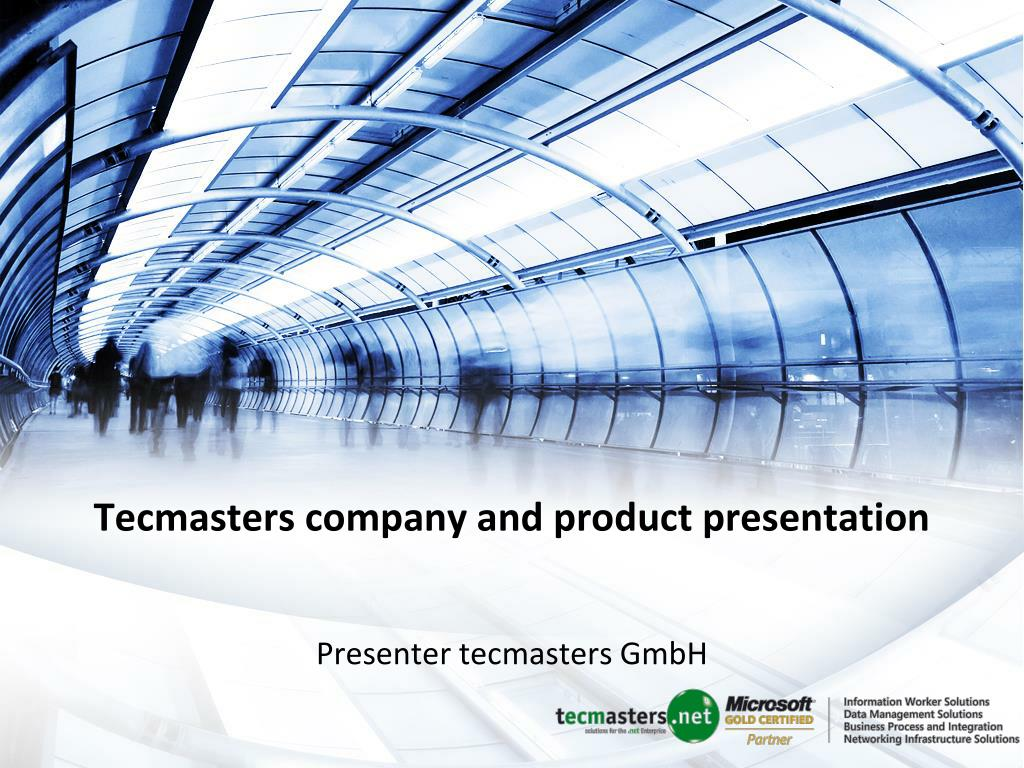tecmasters company and product presentation l.
