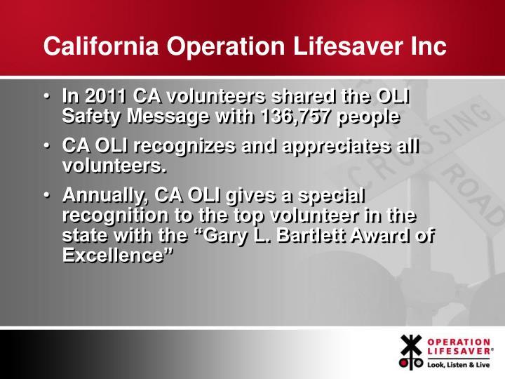 California Operation Lifesaver Inc