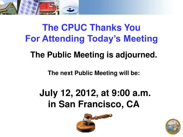 The CPUC Thanks You