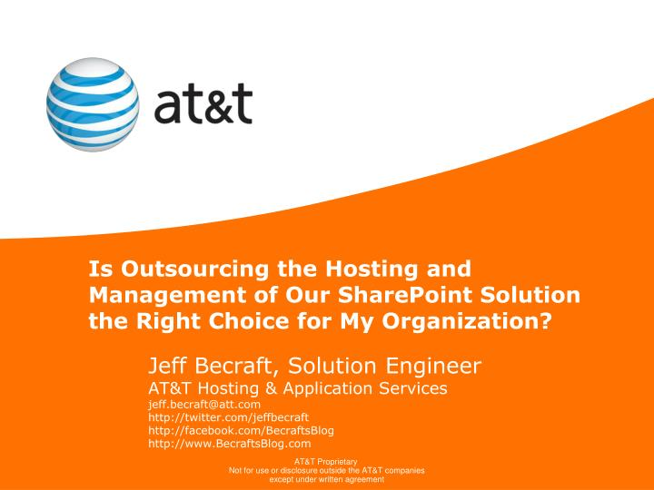Is Outsourcing the Hosting and Management of Our SharePoint Solution the Right Choice for My Organiz...