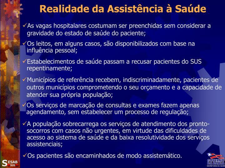Realidade da Assistência à Saúde