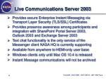 live communications server 2003