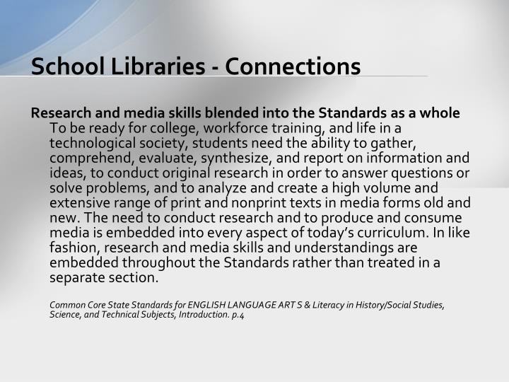 School Libraries - Connections