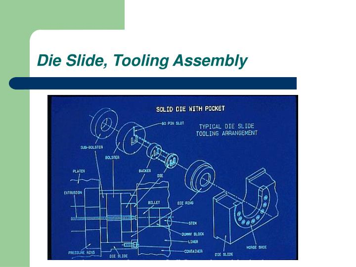 Die Slide, Tooling Assembly