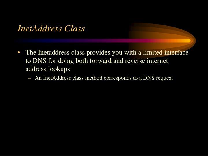 Inetaddress class
