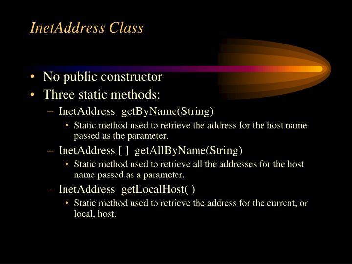 Inetaddress class1