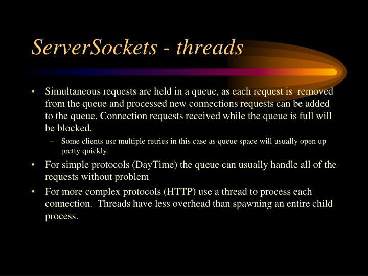 ServerSockets - threads