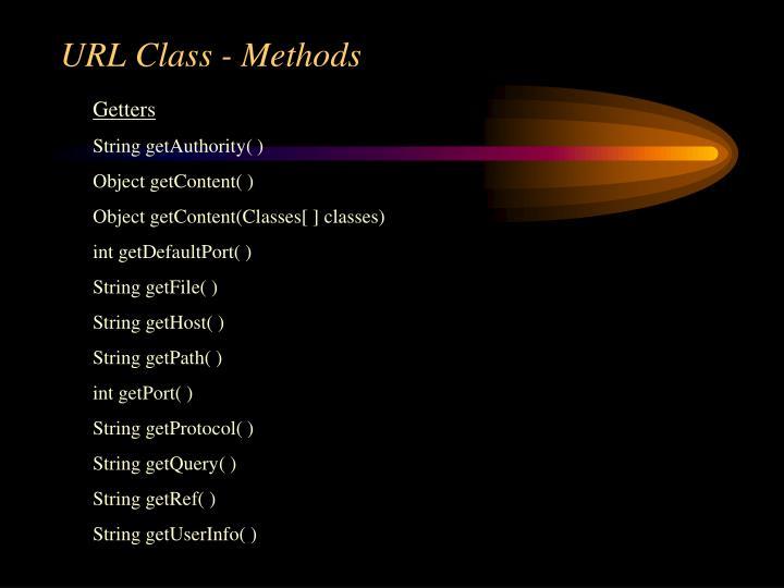 URL Class - Methods