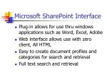 microsoft sharepoint interface