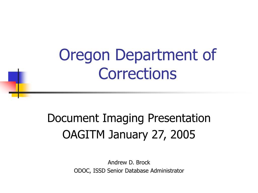 oregon department of corrections l.
