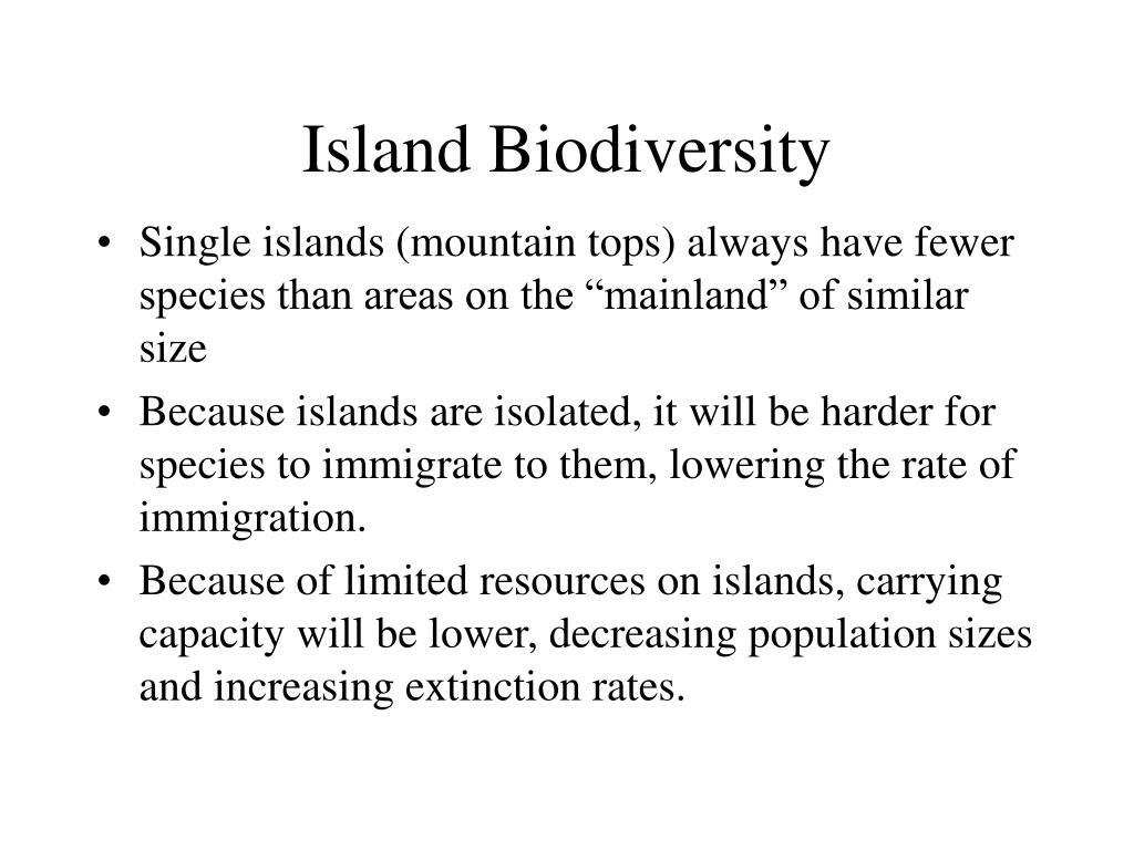 Island Biodiversity