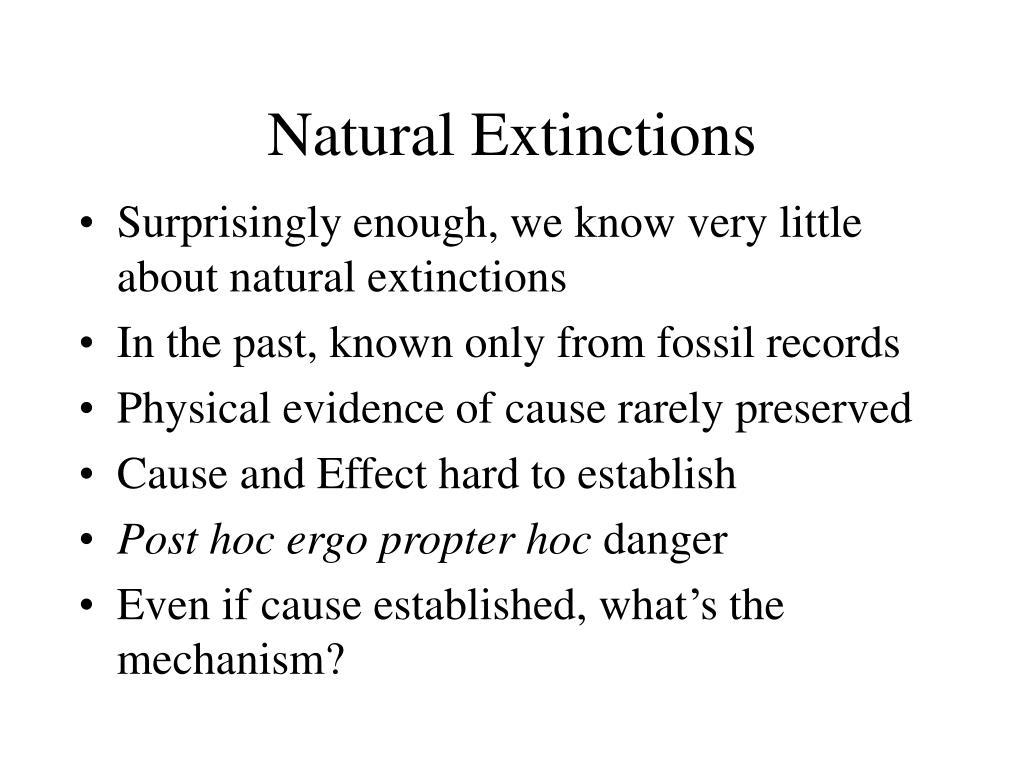 Natural Extinctions