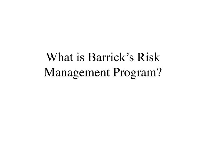 american barrick resources corporation case essay M murenbeeld & associates inc 2 in defense of gold hedging – the case of barrick introduction not a day goes by without some comment on the newswires or.