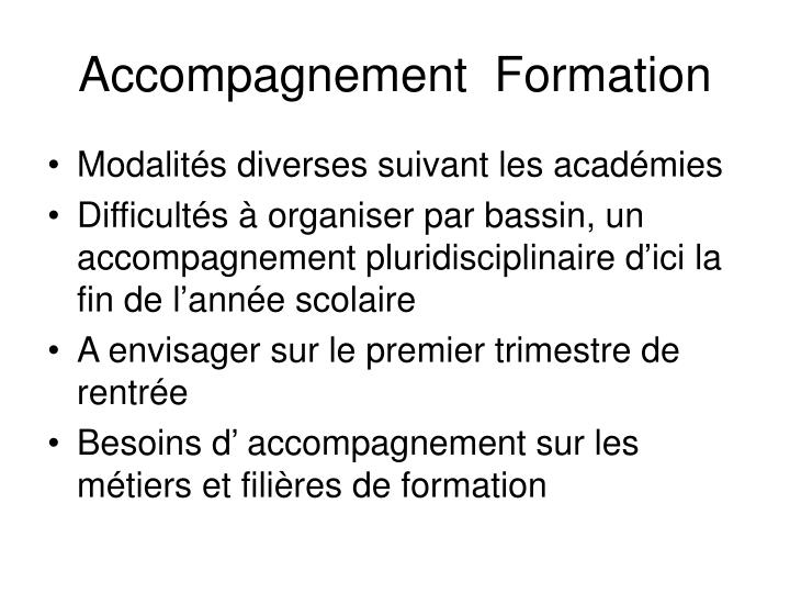 Accompagnement  Formation
