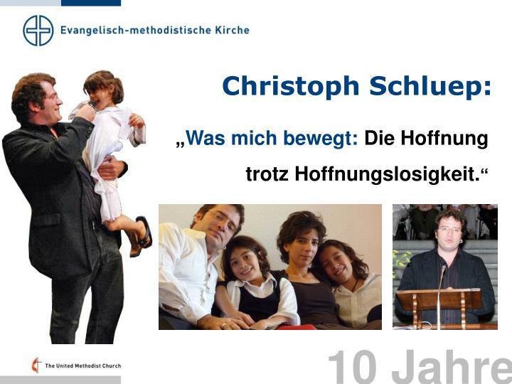 Christoph Schluep: