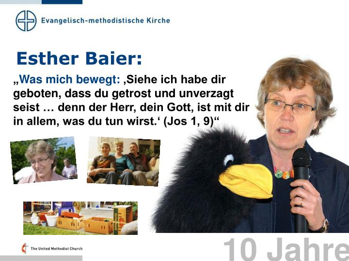 Esther Baier: