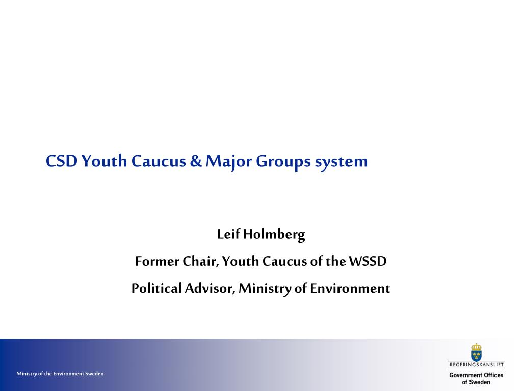 CSD Youth Caucus & Major Groups system