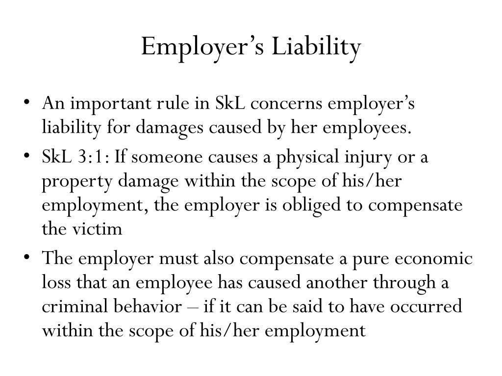 Employer's Liability