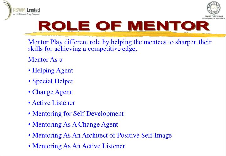 ROLE OF MENTOR