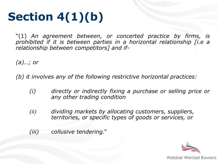 Section 4(1)(b)