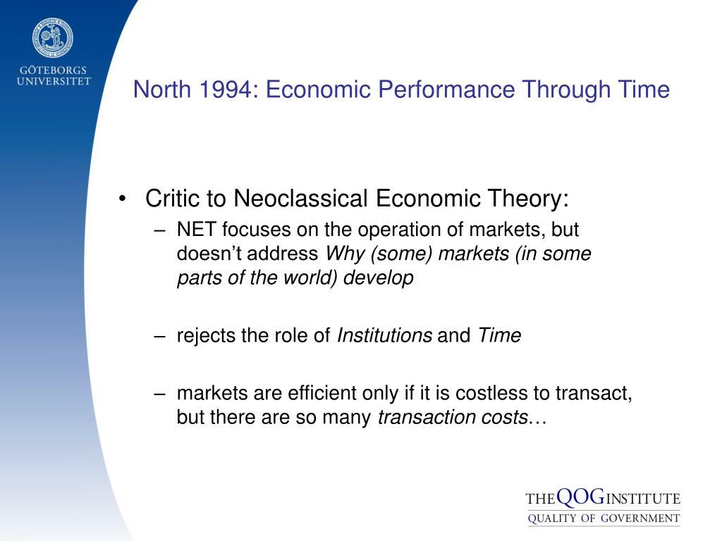 North 1994: Economic Performance Through Time
