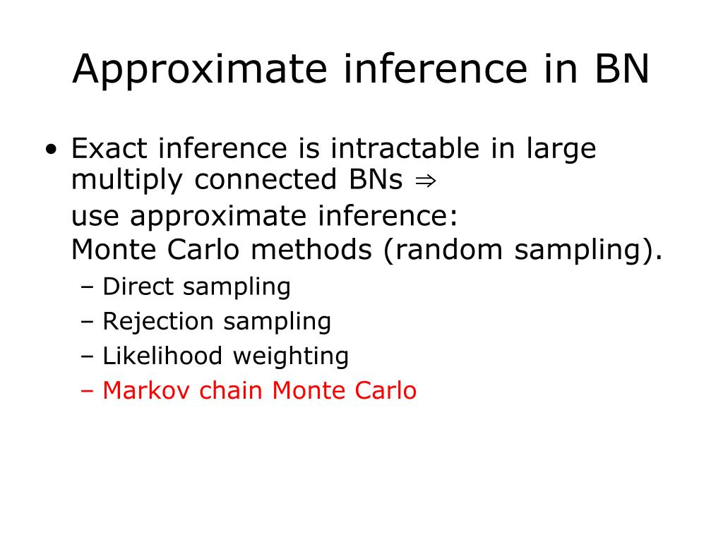 Approximate inference in BN