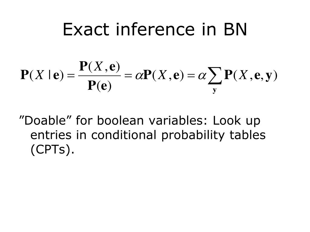 Exact inference in BN