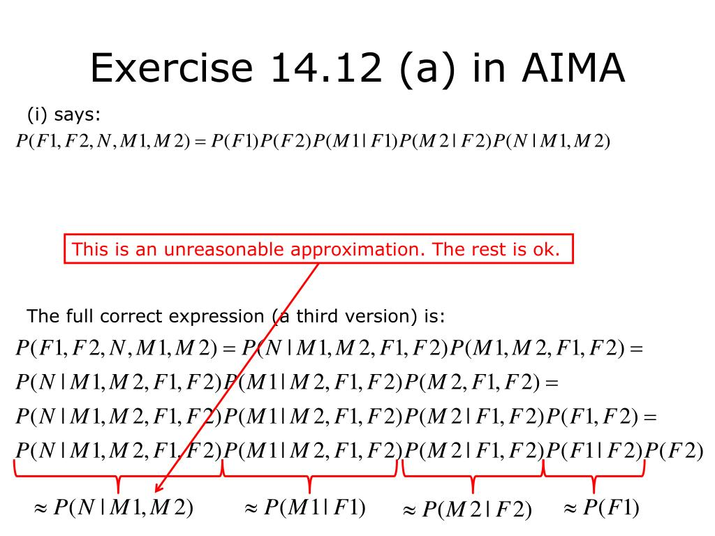 Exercise 14.12 (a) in AIMA