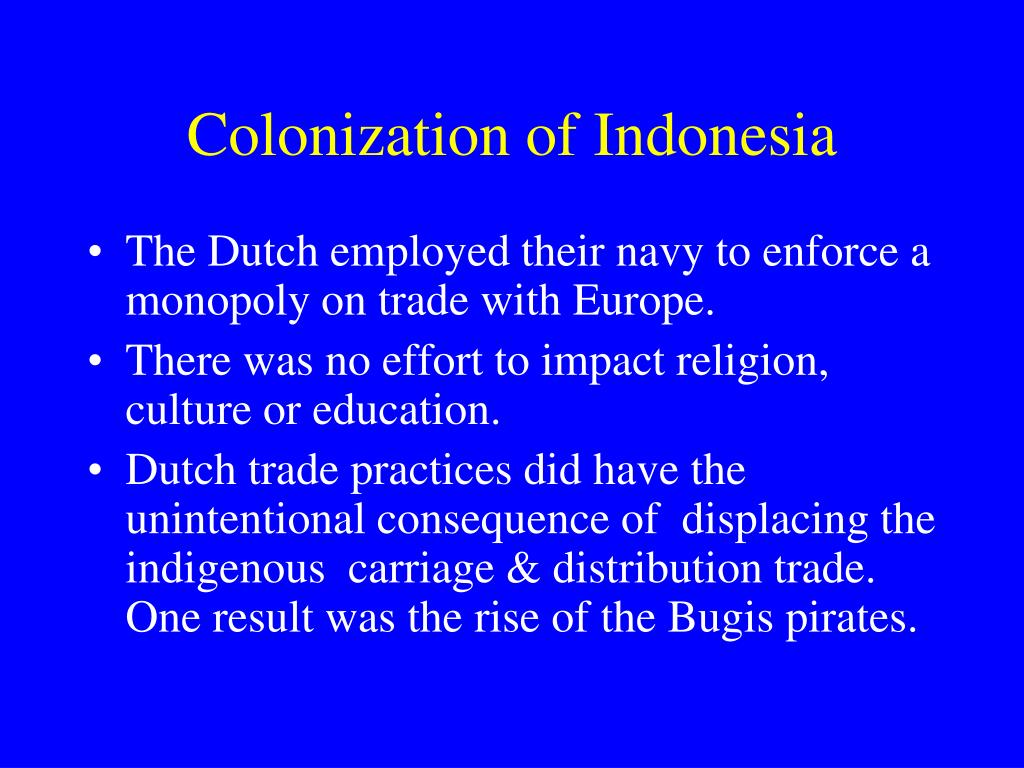 Colonization of Indonesia