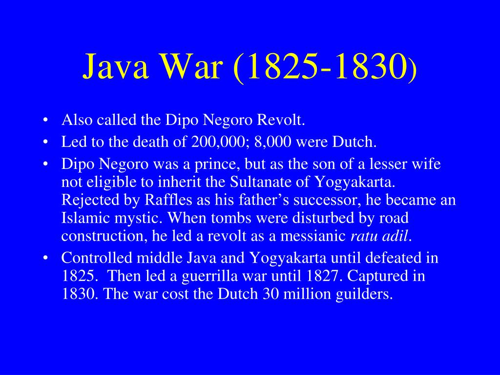 Java War (1825-1830