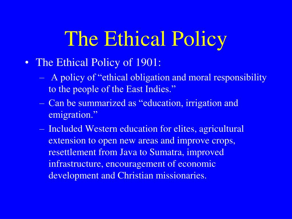 The Ethical Policy