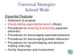 universal strategies school wide
