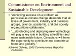 commissioner on environment and sustainable development