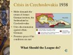 crisis in czechoslovakia 1938