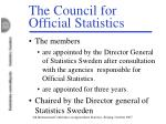 the council for official statistics