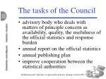 the tasks of the council