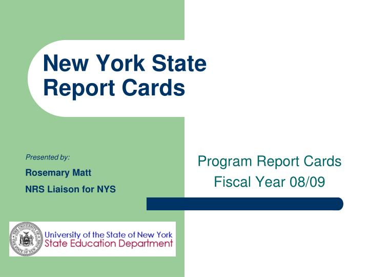 new york state report cards n.