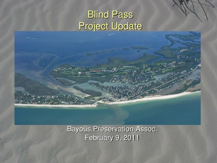 blind pass project update n.