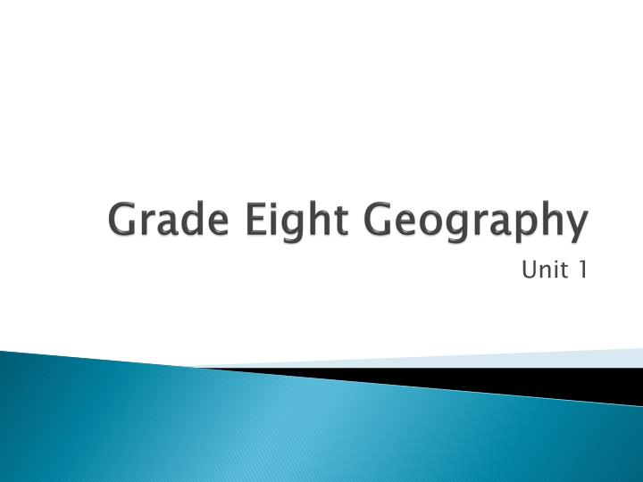grade eight geography n.