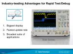 industry leading advantages for rapid test debug