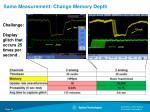same measurement change memory depth