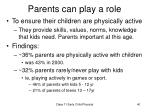 parents can play a role