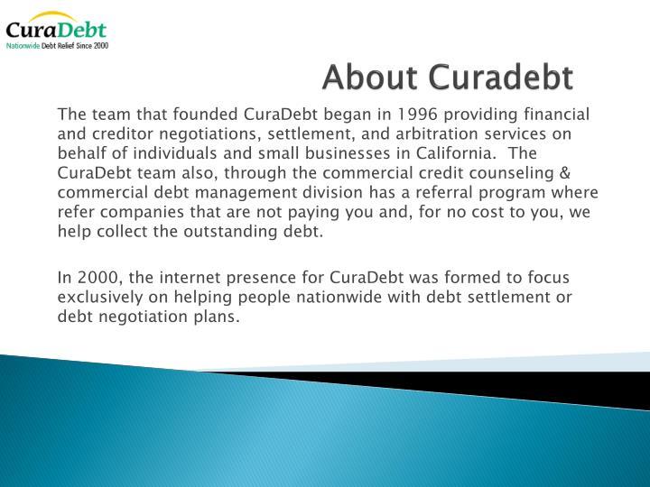 About curadebt