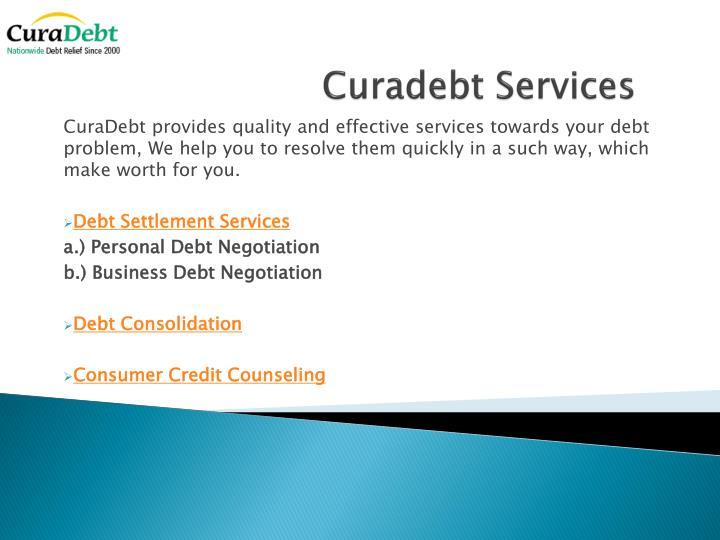 Curadebt services