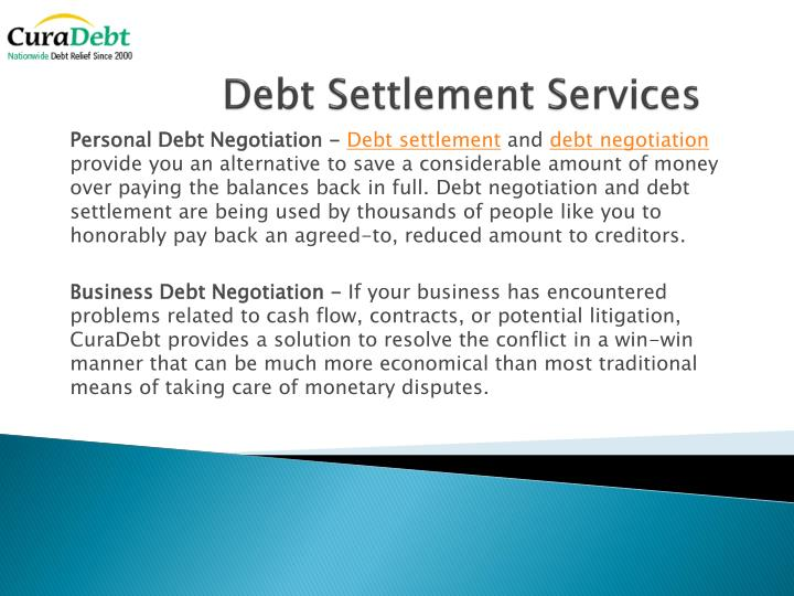 Debt Settlement Services