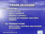 trade in goods1